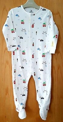 ♡ Next ♡ NEW ☆ Baby Boy ☆ London ☆ Dinosaurs ☆ Sleepsuit Babygrow ☆ 12-18 Months