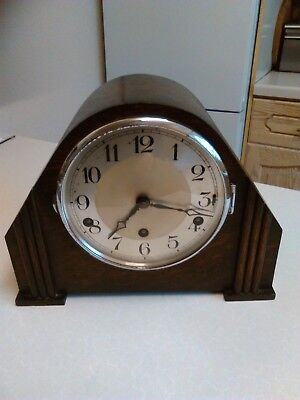 1930's Mantle Clock with Franz Hermle Movement - Westminster Chimes (1166)