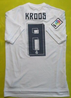 TONI KROOS 2015 2016 Real Madrid Home White adidas Jersey Men M ... 05528254f