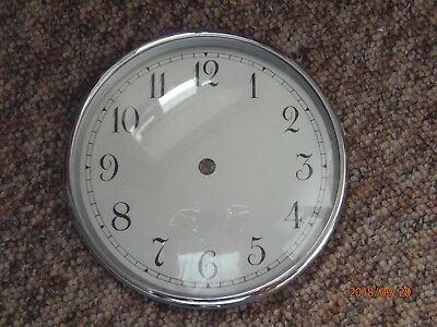 Vintage mantel clock dial and bezel