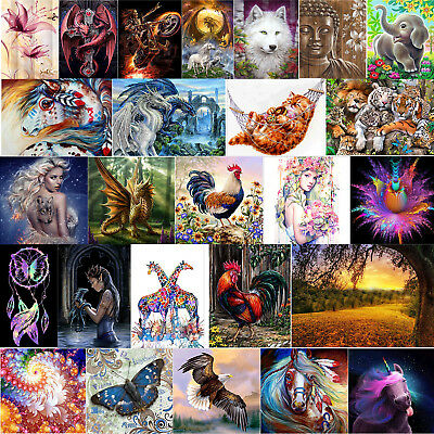 26 Arten Tiere DIY 5D Diamond Painting Diamant Malerei Stickerei Stickpackung DE
