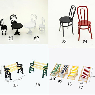 Miniature Alloy Mini Furniture Table Chair 1/6 1/12 Scale Model Home Toys UK