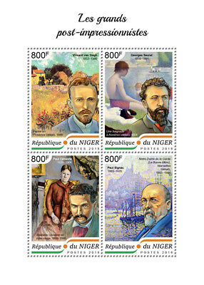 Z08 IMPERF NIG18407a NIGER 2018 The great post impressionists MNH ** Postfrisch