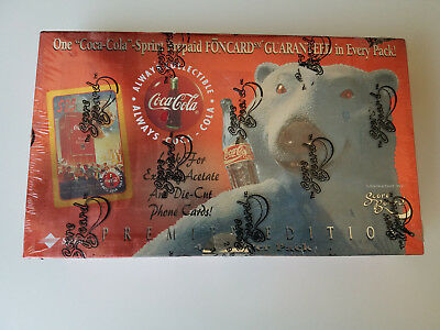 1995 Coca Cola SPRINT Coke PHONE CARD  diecut Cels, unopened