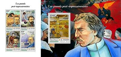Z08 NIG18407ab NIGER 2018 The great post impressionists MNH ** Postfrisch Set