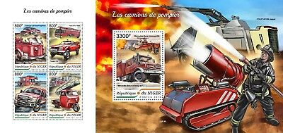 Z08 NIG18409ab NIGER 2018 Fire engines MNH ** Postfrisch Set
