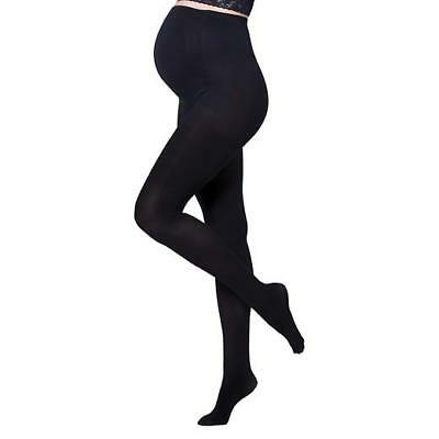 New Isabel Maternity by Ingrid & Isabel Opaque Black Tights - S/M