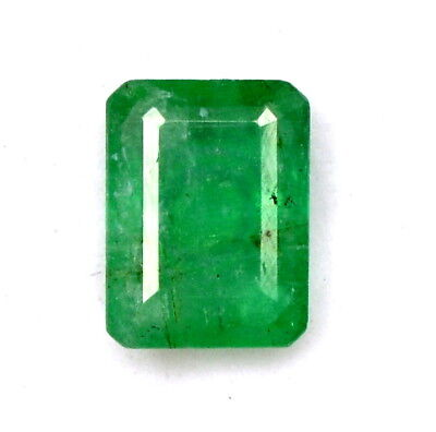 Certified Natural Emerald Octagon Cut 8x6 mm 1.56 Cts Unheated Loose Gemstone