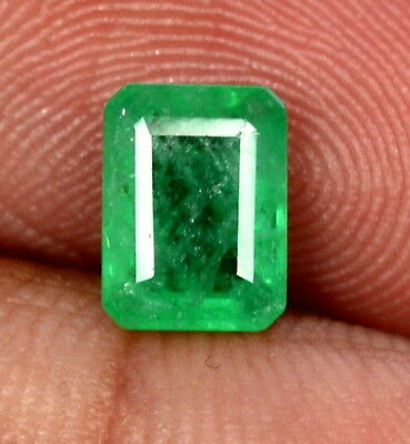 1.31 Cts Certified Natural Emerald Octagon Cut 8x6 mm Faceted Loose Gemstone