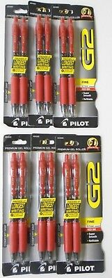 Pilot G2 Premium Gel Roller Retractable Pen Fine Red Ink 0.7mm (12 Pens)