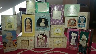 Precious Moments Lot of 16 With Boxes vintage