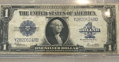 Usa 1923 Series Silver Certificate 1 Dollar Nice Grade No Stains No Damaged