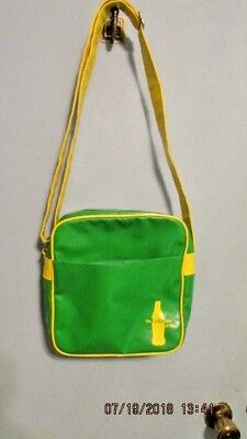Coca Cola The Coke Side of Life Vinyl Shoulder Bag Green and Yellow Tote Bag