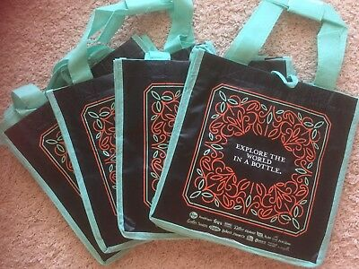 4 Kroger Earthwise 6 Bottle Wine Tote/Carrier Bags Reusable.  FREE SHIPPING