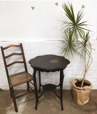 Antique Victorian Edwardian Side End Small Table Wood Wooden