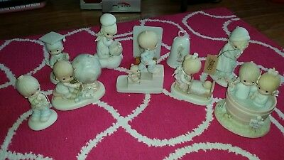 PRECIOUS MOMENTS LOT OF 10 figurines euc