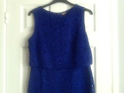 M and Co Boutique Blue Lacy dress Size 16, Worn Only Once