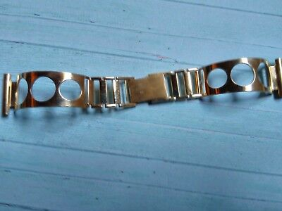 BRACELET MONTRE plaqué or STYLE RALLYE RACING GAINSBOURG /*  22mm  FRANCE /*GM30