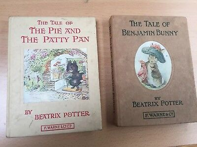 2 Old Bestrix Potter Books Pie & Patty Pan Benjamin Bunny