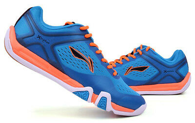 LI-NING Men's Badminton Shoes Training Blue Orange Racket Racquet NWT AYTM039-1