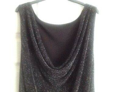 CMD black sparkly knee length stretchy  size 12 dress