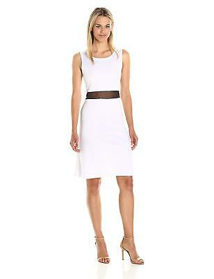 2e158800c13fa Star Vixen Women s Plus Size Sleeveless Stretch Fit-n-Flare Dress with  Illusion