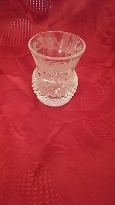 Edinburgh Crystal Thistle Whisky Drinking  Glass Tot Dram Sensibly Priced