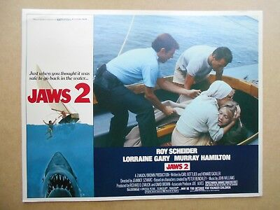JAWS 2  1978 Original Lobby Card  in Theatre-used condition