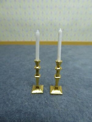 Dolls House Miniature 1:12 Scale Candlestick x 2 For  Table / Dining