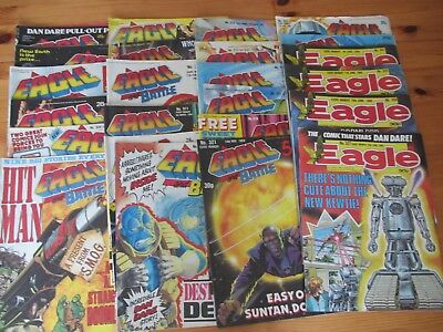 Job lot of 24 Eagle comics January - June 1988 issues listed excellent condition