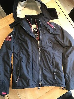 Superdry Windcheater Ladies/Womens/Girls Jacket/Coat Size XS Navy And Pink