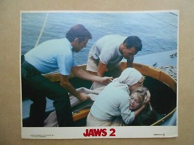 "JAWS 2 original 8""x10"" NSS color lithograph / still"