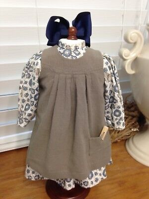Made To Fit Pleasant Company American Girl: Nellie's Fall Work Dress