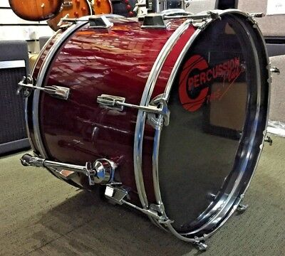 "Percussion Plus 20"" Bass Drum In Wine Red"