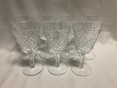"""Waterford Crystal Alana Set of 7 Claret Wine Glasses 5 7/8"""""""