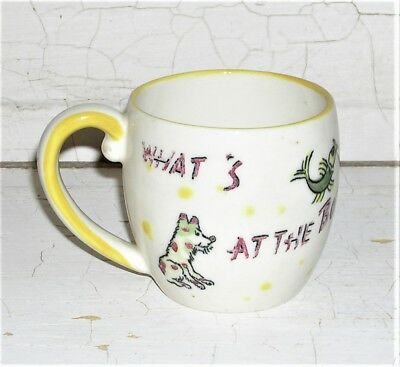 Vintage Child's Mystery Mug - What's At The Bottom of the Well?  A Teddy Bear!