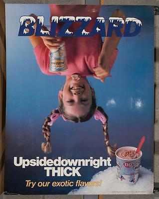 Vintage Dairy Queen Promotional Poster Dennis The Menace Upside Blizzard dq2