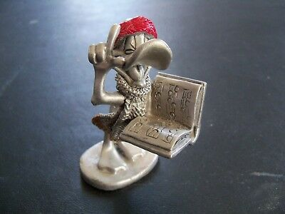 1996-LOONEY TUNES Daffy Duck CHRISTMAS BAND PEWTER FIGURINE