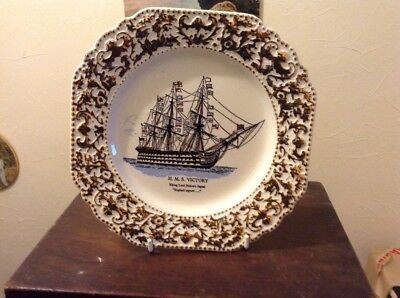 Lord Nelson Pottery HMS Victory Pictorial Plate 'England Expects'