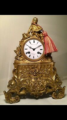 A Fine Quality French Gilt Bronze 15 Day Mantel Clock By Richmond Circa~1835.
