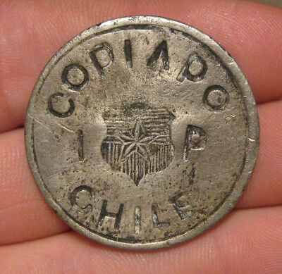Copiapo (Chile) - 1865 Silver Peso - Rare!