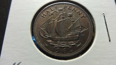 UK Great Britain  1962 Half Penny  coin