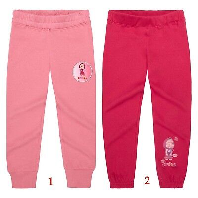 Girls Masha and the Bear Jogging Tracksuit Bottoms Trousers Age 3-9 Years