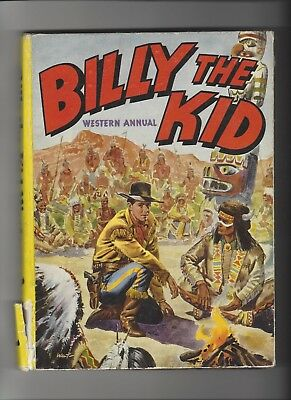 Billy the Kid Western Annual 1955! Very Scarce Hardcover Comic!