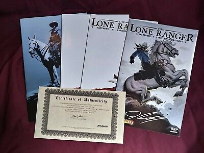 The Lone Ranger lot signed #7 10 17 nmint