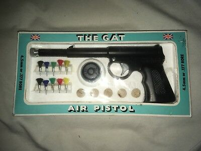 Vintage 1970s The Gat Air Pistol 4.5 Mm Or .177 Bore