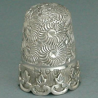 Gorgeous Antique English Sterling Silver Thimble * Hallmarked 1895