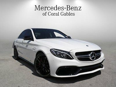 C-Class AMG C 63 S 2018 Mercedes-Benz C-Class AMG C 63 S 1,079 Miles Polar White 4dr Car Twin Turbo
