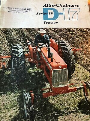Allis-Chalmers D-17 Tractor Manual Series 4