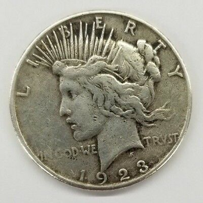 1923-S United States Silver Peace Dollar in Circulated Condition